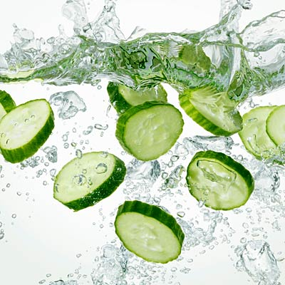 hydrate with cucumbers